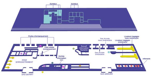 Plan de l'aéroport de Calvi